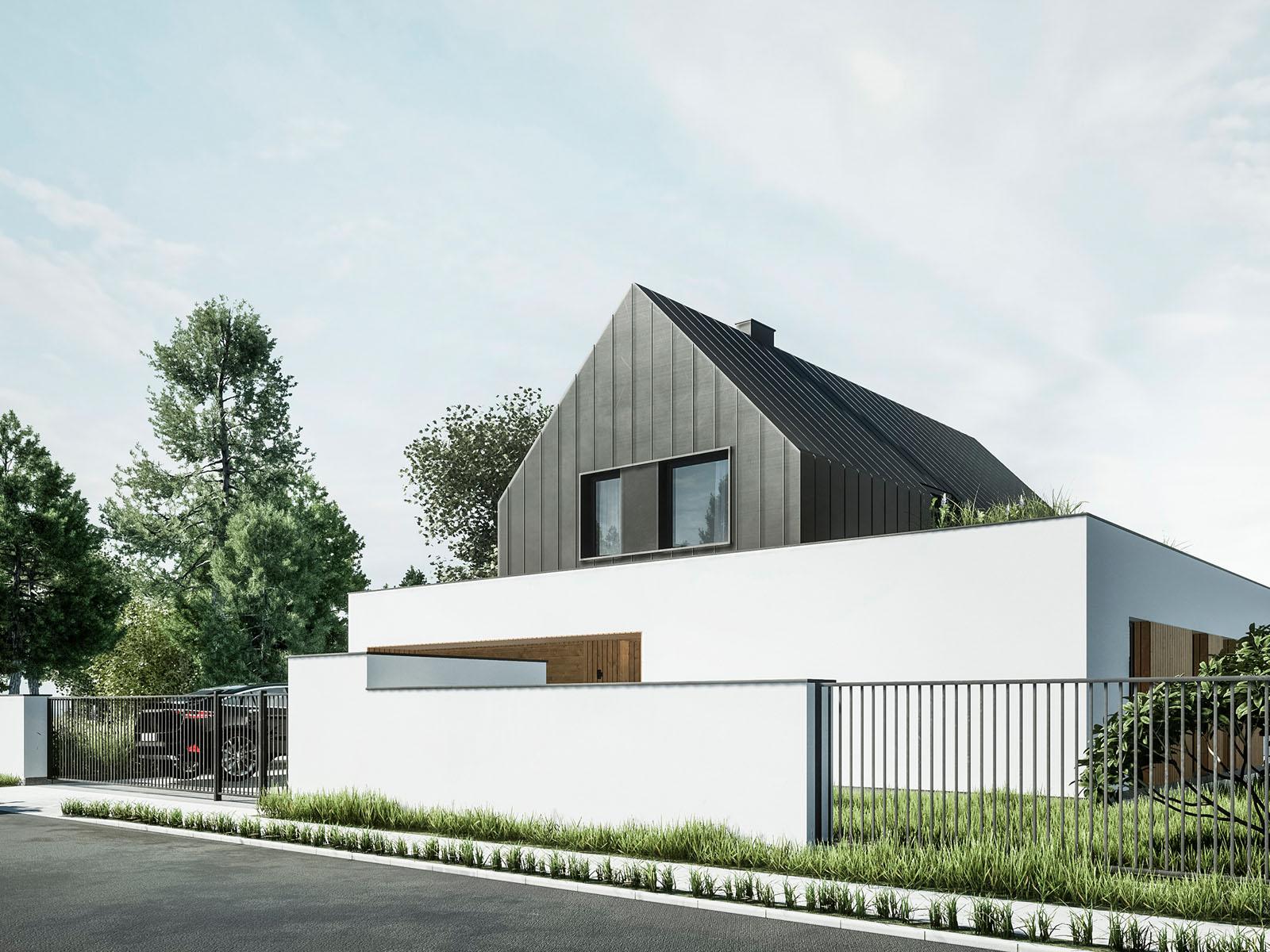 Dom nowoczesna stodoła V3, Mielec